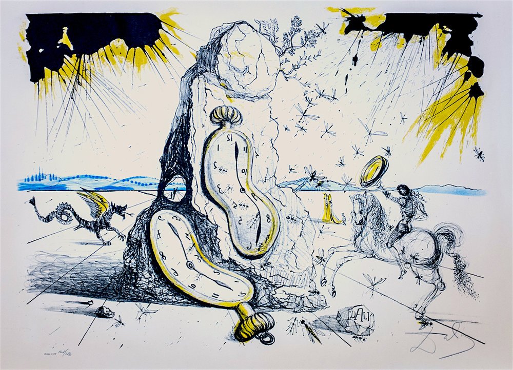 "DALI, Salvador (Artist). ""The Cosmic Rays Resuscitating the Soft Watches"". 1965."