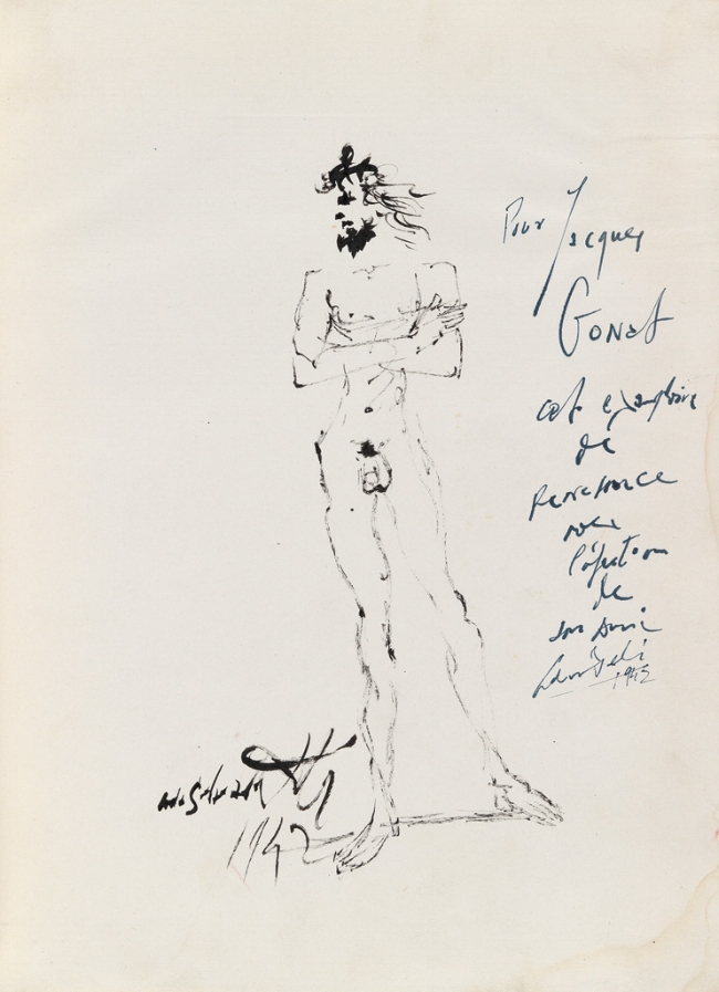 ORIGINAL DRAWING BY SALVADOR DALI