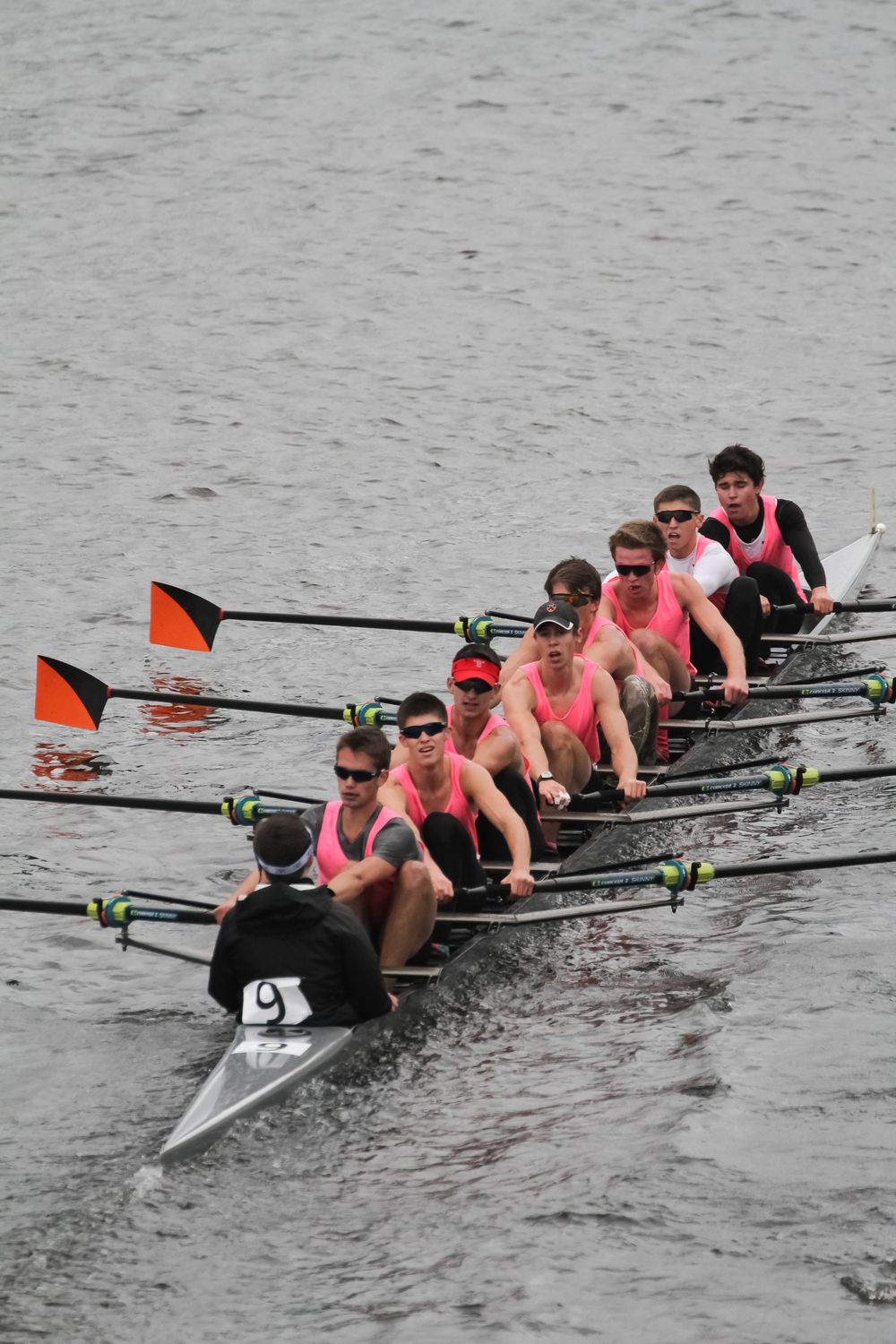 The lightweight men's 2v placed 9th overall