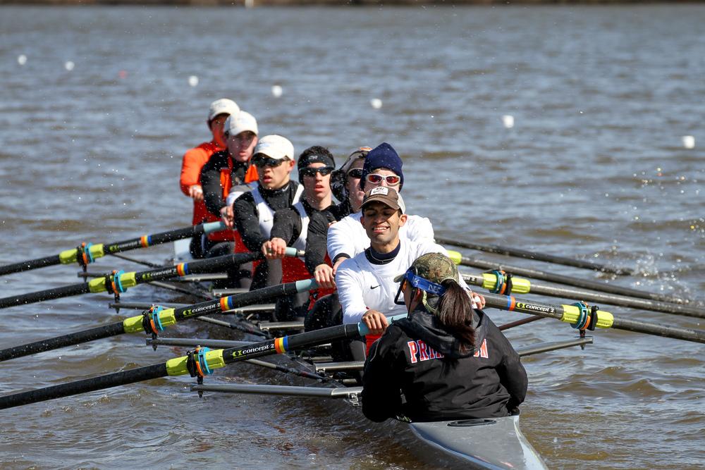 Suraj Bhat '16 strokes the fifth varsity boat