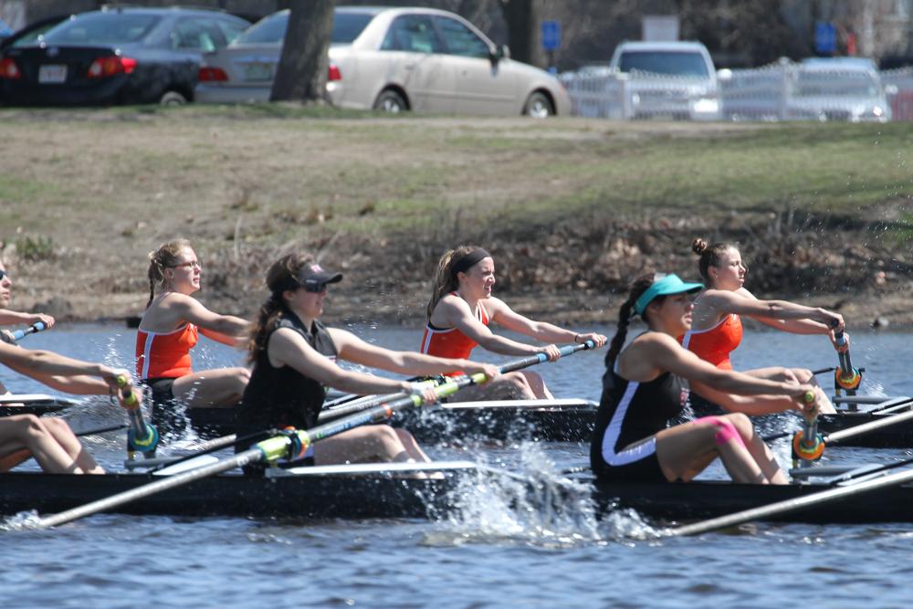 The Princeton 3V races a 1000m piece against Radcliffe