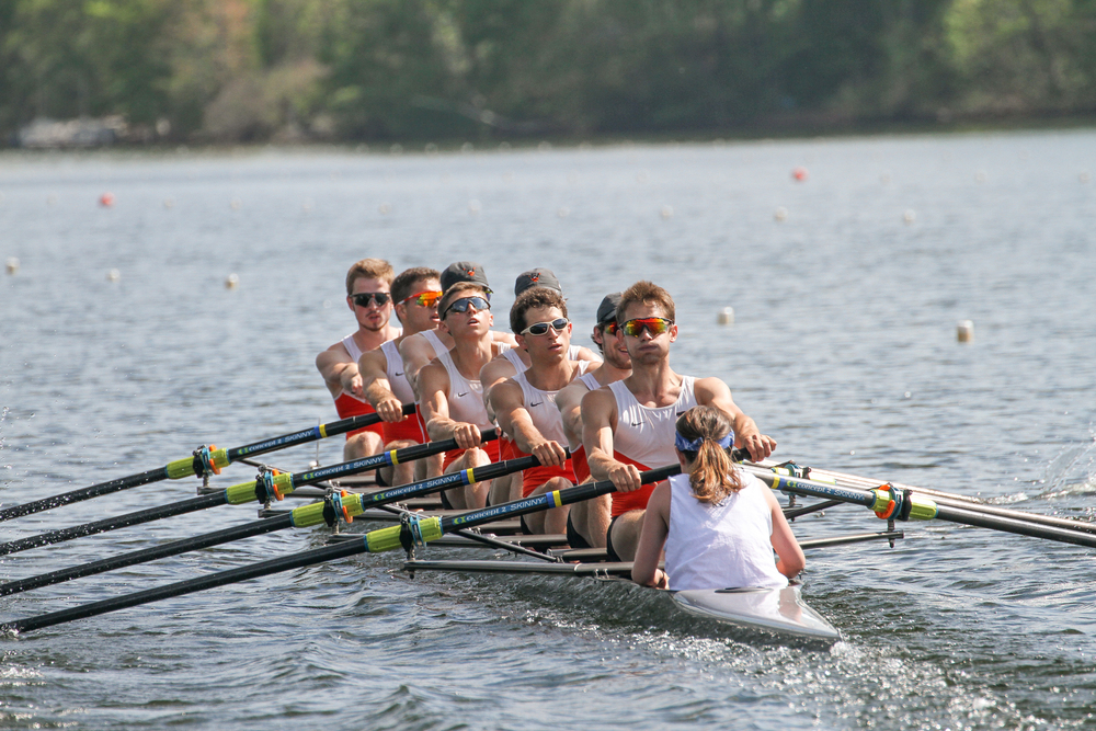 The lightweight men's 2V rowing to a third place finish in the finals