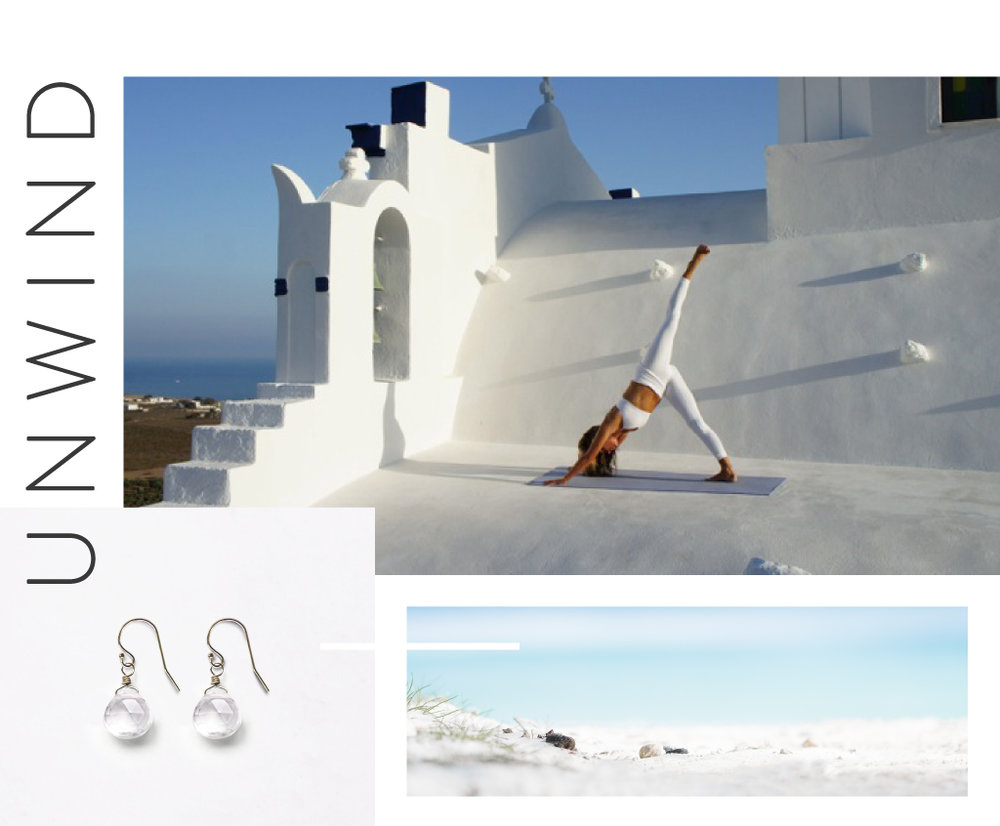 Wanderlust Life Isla Drop Earring in Clear Quartz | Pelagos Hotel Yoga Retreat, Santorini