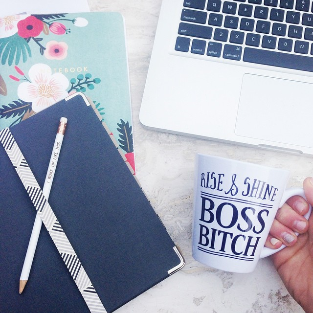 Okay, Monday! Game on. #hustle #riseandshine #girlboss