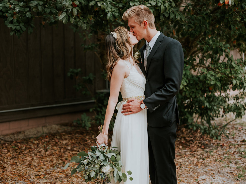 The Ledford Wedding  - Venue: Fox Lake ParkFlorals: Florida Flowers and OrchidsDress: BHLDNSuit: Combatant GentlemanBridesmaid Dresses: Lulu'sRentals: Vintage Touch Rentals