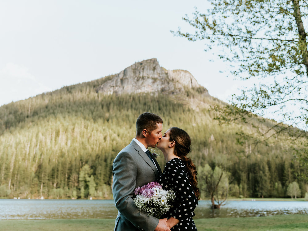 Stratton Elopement - Location: Rattlesnake LakeDress: MangoSuit: Nordstrom