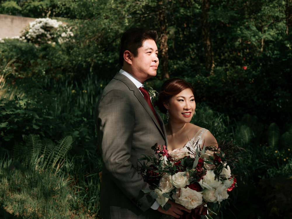 The Godong wedding - Ceremony Location: Blessed SacramentReception Venue: Woodmark HotelHair and Makeup: Blossom & BeautyFlorals: BAHTOHVideographer: Jeffrey H. LeCake: Sugary FareRentals: Fanciful RentalsLighting: Seattle Event Lighting