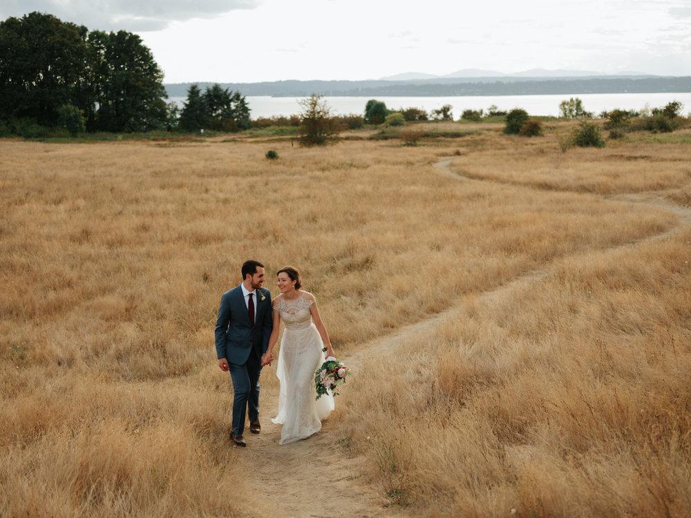 The Miles Wedding - Location: Discovery ParkWedding Dress: Catherine DeaneSuit: Banana RepublicJewelry: BHLDNRings: CatbirdFlowers: Pike Place Market
