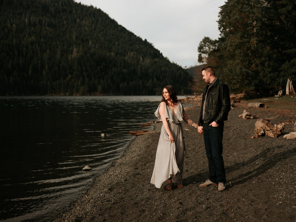 Stolen Glimpses Seattle Wedding Photographer Lake Crescent Engagement Session 29.jpg