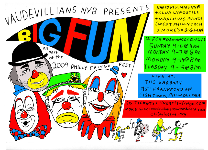 vaudevillians new years mummers brigade poster for the philly fridge fest 2009