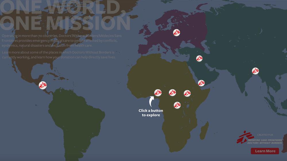 DWB — Jen Sclafani Doctors Without Borders World Map on
