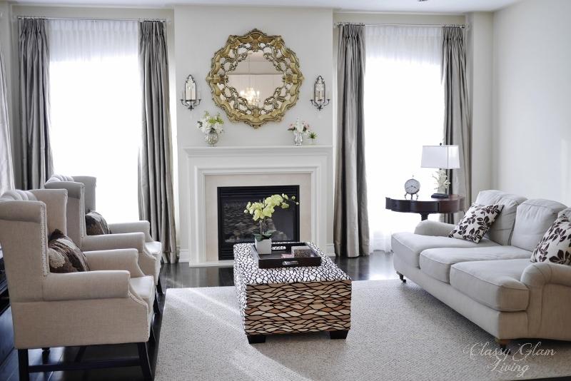 Family Room   Classy Glam Living