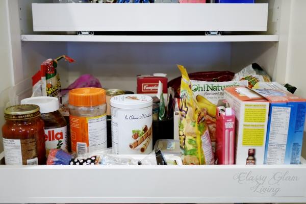 DIY Slide out pantry shelves | Classy Glam Living