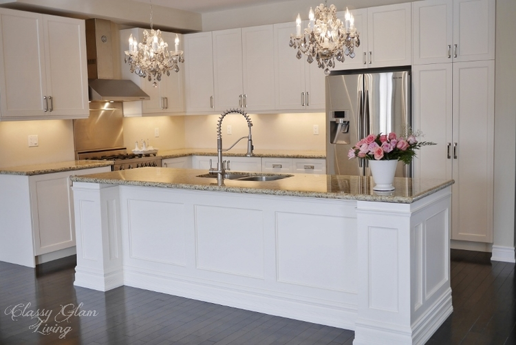 Diy kitchen island makeover classy glam living diy kitchen island makeover classy glam living solutioingenieria Choice Image