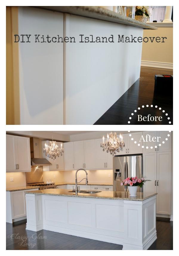 DIY Kitchen Island Makeover Classy Glam Living