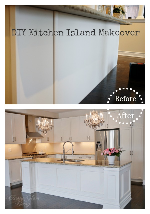Diy Kitchen Island Makeover Classy Glam Living