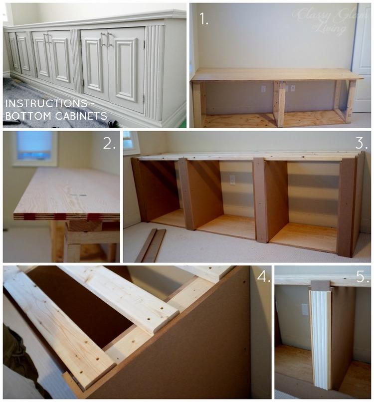 DIY Built-in Office Cabinet Bottom Instructions | Classy Glam Living