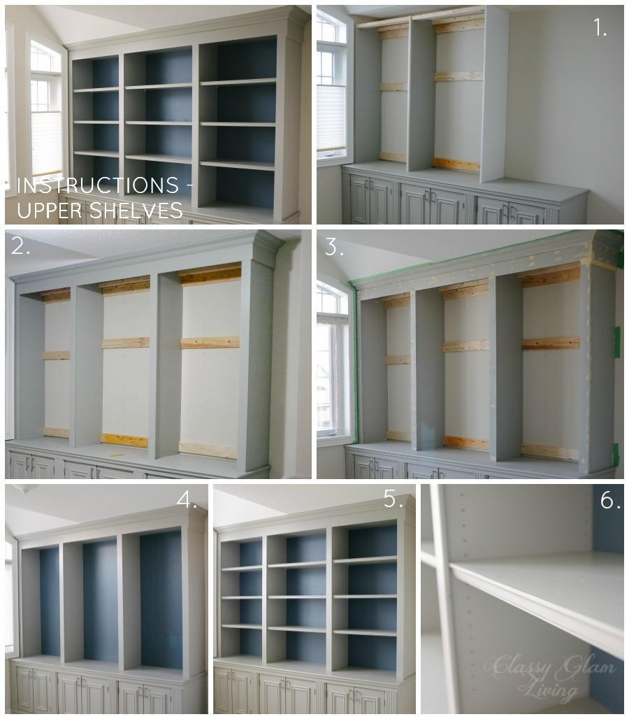 DIY Builtin Office Cabinet Classy Glam Living