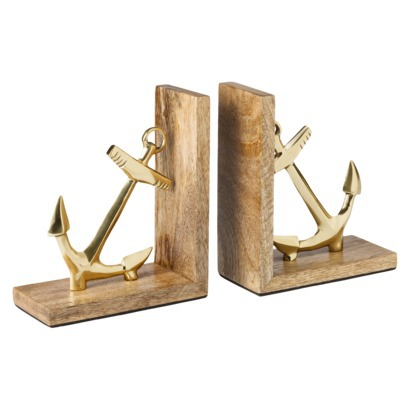 Anchor Bookends | Shelves Styling | Classy Glam Living