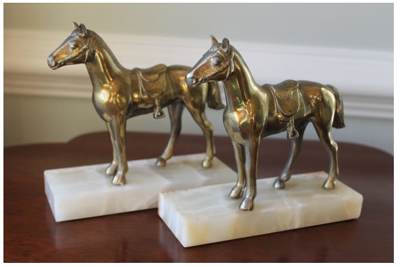 Brass Horses | Shelves Styling | Classy Glam Living