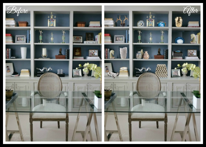 Before After Shelves Styling | Classy Glam Living