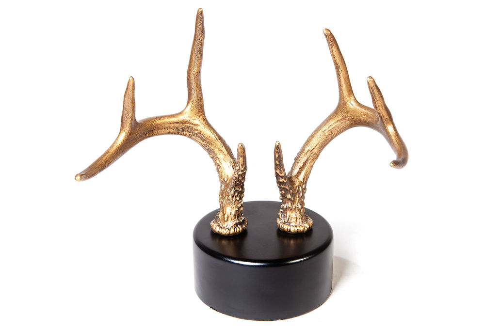 Gold Antlers on Stand | Shelves Styling | Classy Glam Living