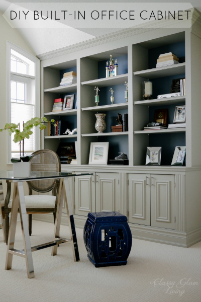 Wonderful DIY Office Built In Cabinet | Classy Glam Living