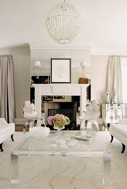 Furniture Placement around Fireplace | Classy Glam Living
