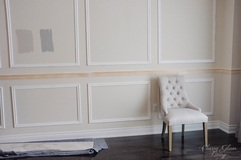 DIY Wainscoting and Chair Rail Installation | Color Choice | Classy Glam Living