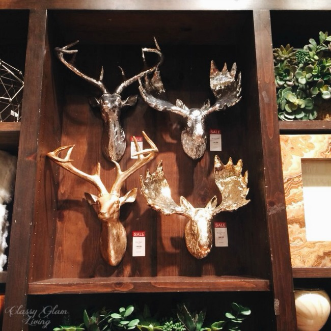 Gold and Silver Antlers | Z Galleries | Classy Glam Living