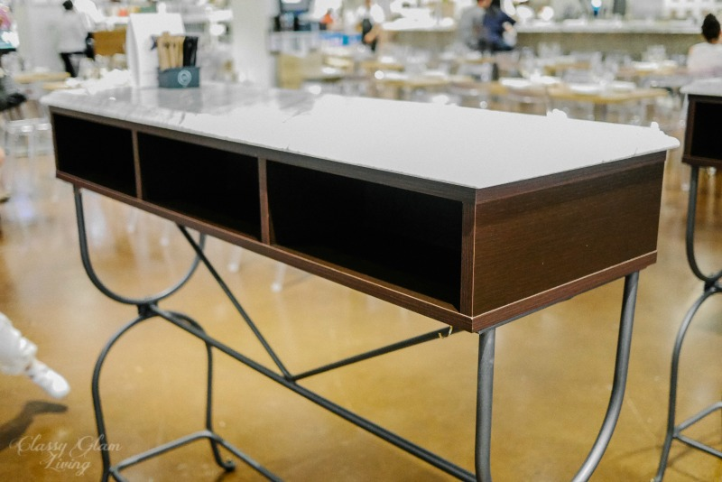 Marble top standing tables Eataly Chicago | Classy Glam Living