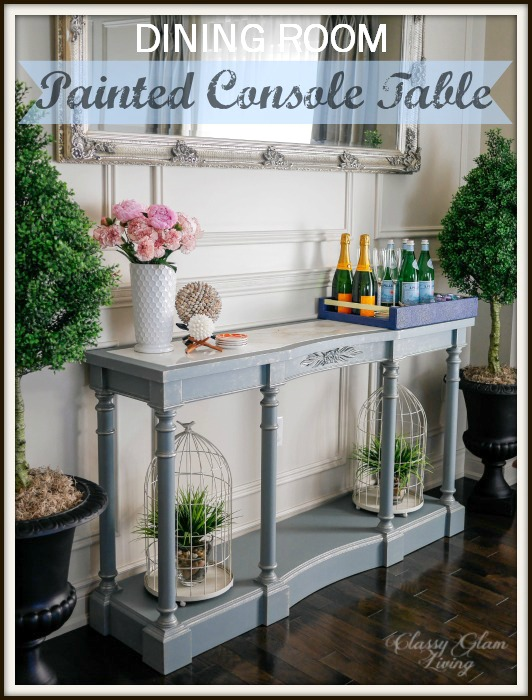 Exceptional French Blue Painted Console Table | Classy Glam Living