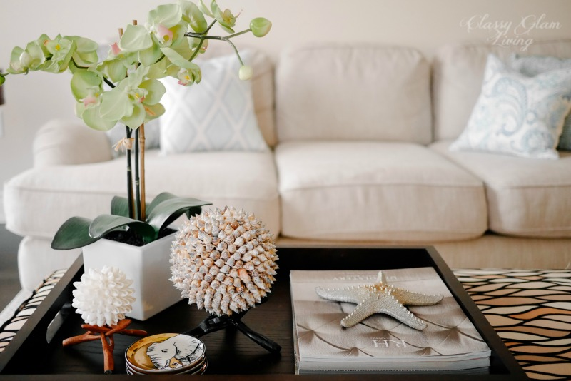 Coffee Table Tray Styling | Classy Glam Living