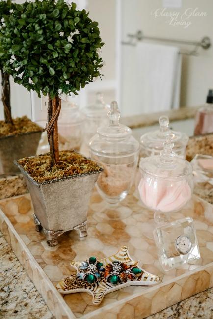 Bathroom Vanity Tray Styling | Classy Glam Living