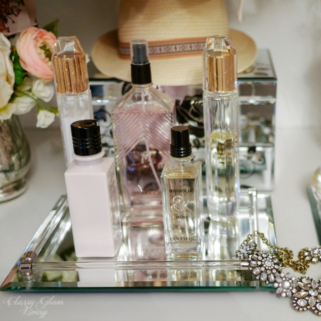 Dressing Table Vanity Tray Styling | Classy Glam Living