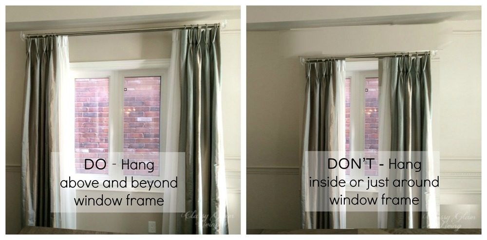 Fabulous How To Hang Draperies Not The Dollhouse Way Classy Glam Living With Long Should Curtains Be