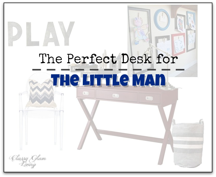 Kid Desk Work Area Design Board | Classy Glam Living
