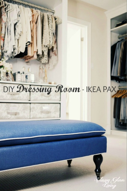 DIY IKEA Hack Dressing Room | Classy Glam Living