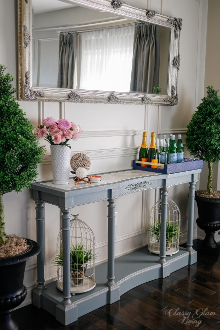 Painted French Blue Console Table | Classy Glam Living