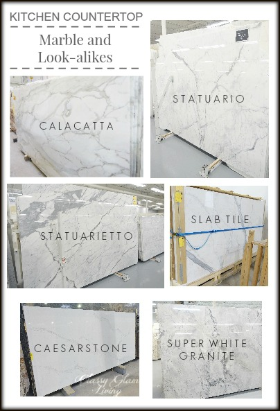 Kitchen Countertop Marble and Look-alike Alternatives Classy Glam ...