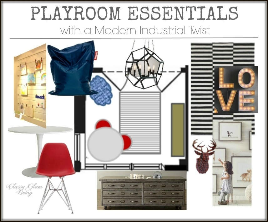 Playroom Essentials with a Modern Industrial Twist | Kid Space Area | Classy Glam Living