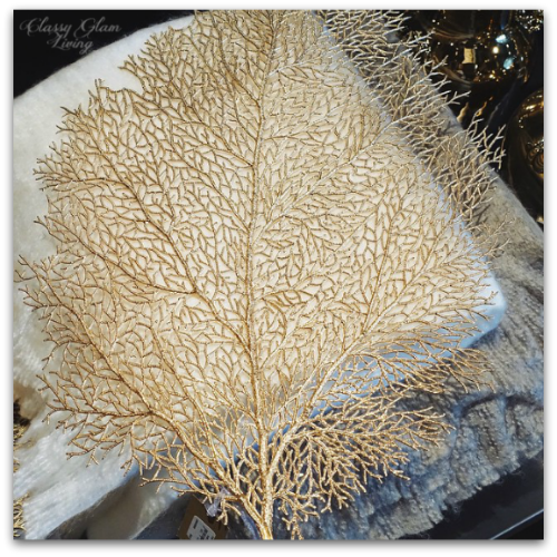 Gold Sea Fan Placemet at Elte Mkt | Classy Glam Living