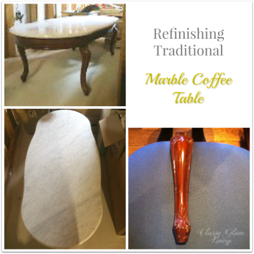 Refinishing Traditional Marble Coffee Table | Repainting | Classy Glam Living