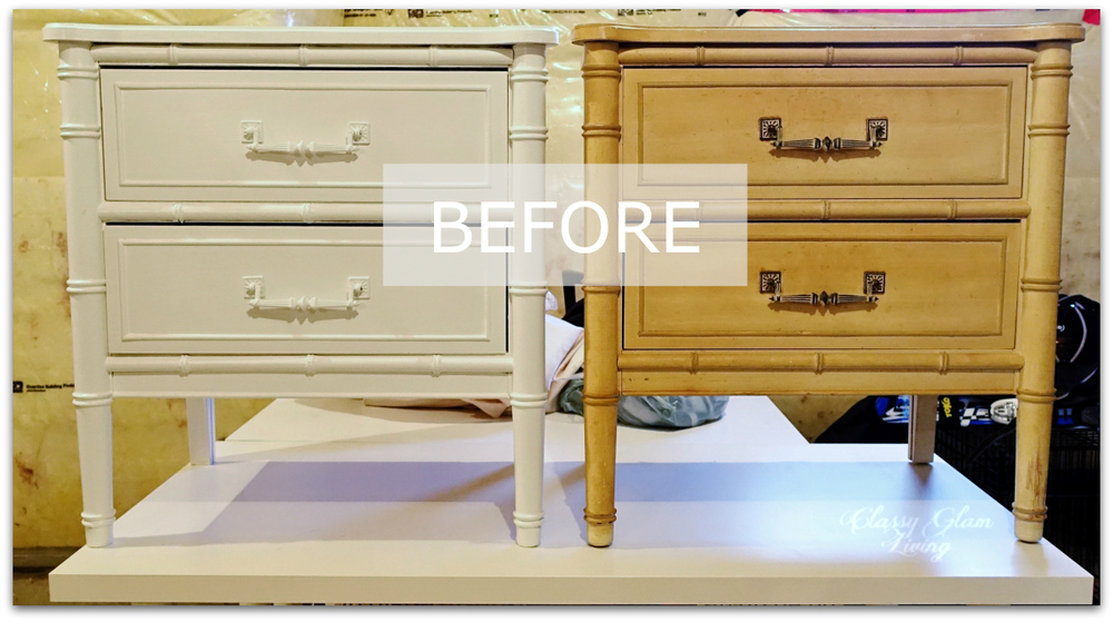 DIY Refinishing Vintage Bedside Tables | Classy Glam Living 2