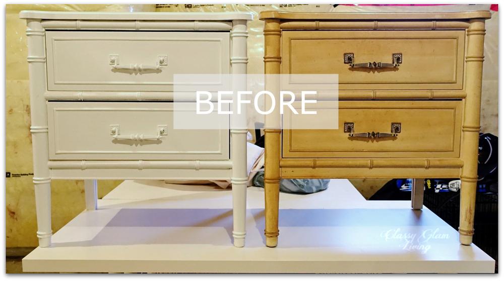 DIY Refinishing Vintage Bedside Tables | Classy Glam Living