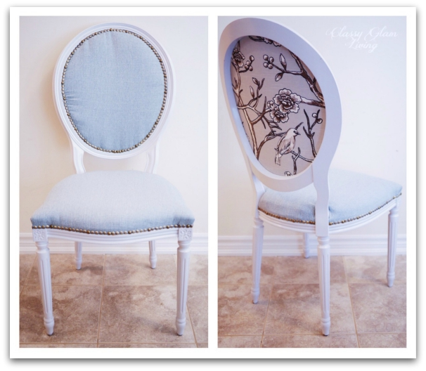 Reupholstered French Chairs | Classy Glam Living