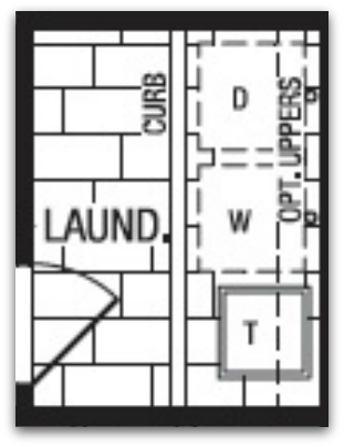 Builder's layout of our new house laundry room