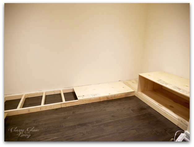 Beginning phase of closet dressing area room | Classy Glam Living