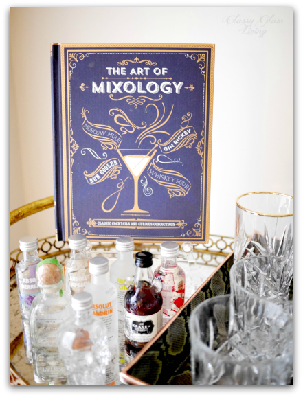 THE ART OF MIXOLOGY  (AFFILIATED LINK);  ACRYLIC EASEL  FROM CB2