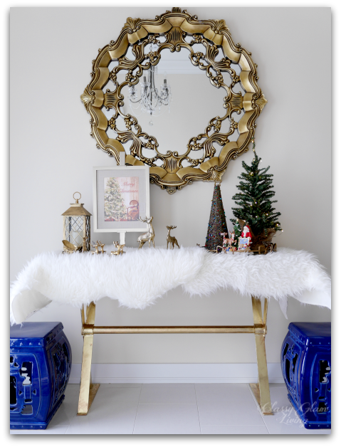 2015 Christmas Entryway New House | Classy Glam Living | IKEA faux sheepskin